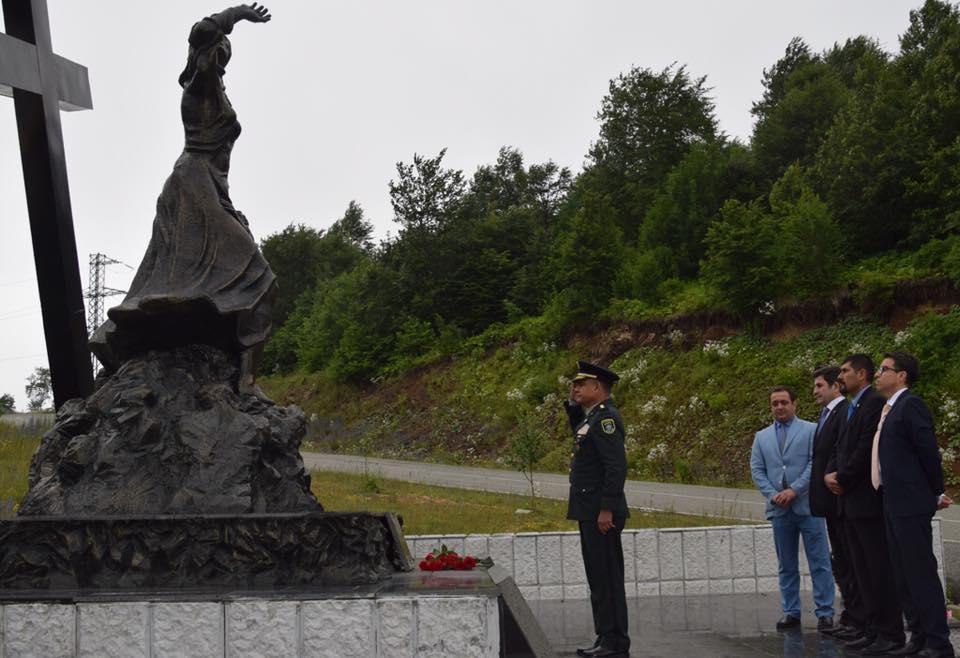 Делегация Посольств Никарагуа и Венесуэлы почтили память жертв Зарской трагедии