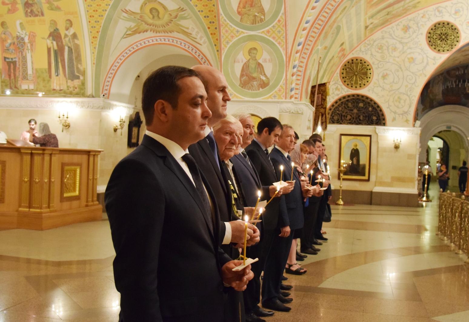 В Храме Христа Спасителя в Москве состоялся молебен по погибшим в августе 2008 года