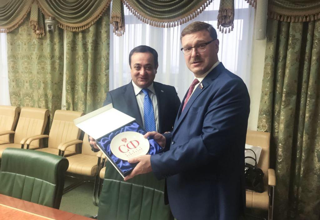 Знаур Гассиев и Константин Косачев обсудили перспективы развития российско-южноосетинских отношений