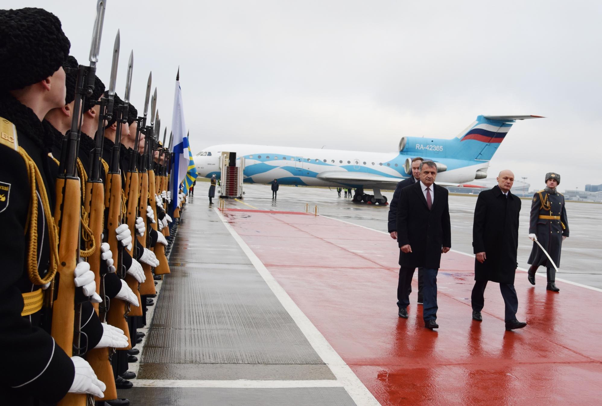 Анатолий Бибилов прибыл в столицу Российской Федерации с официальным визитом