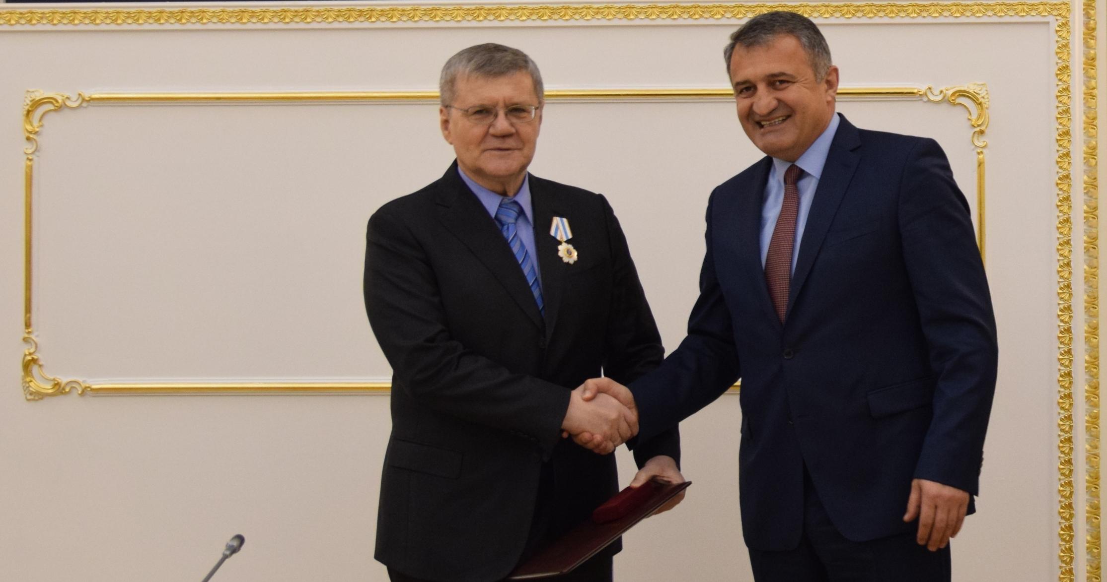 Анатолий Бибилов встретился с Генеральным прокурором Российской Федерации Юрием Чайкой